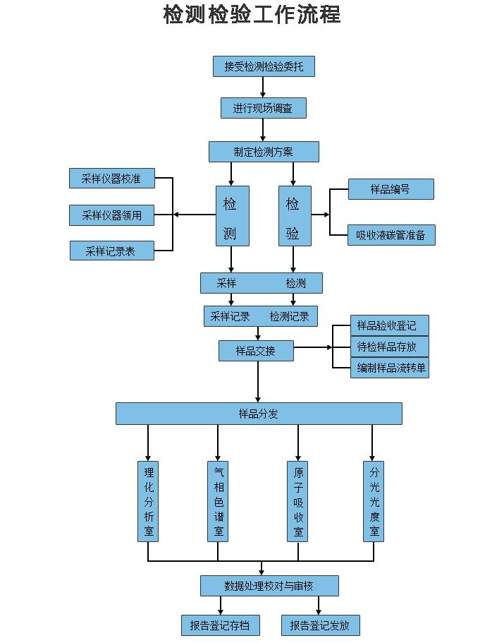 检测与评价工作流程图片